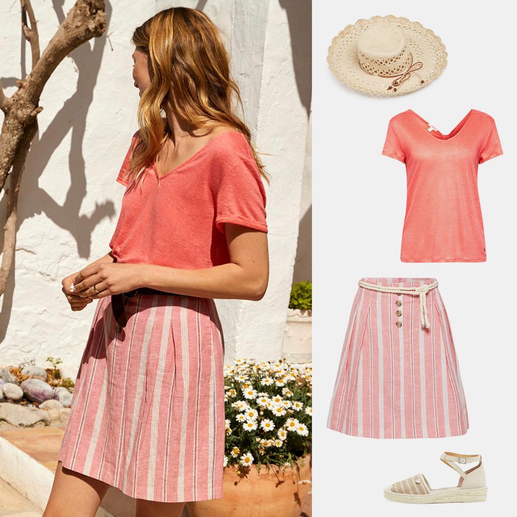 383526de Steal the style, sail away! #Esprit Skirt: http://by.esprit.com/6019EvjKv  T-shirt: http://by.esprit.com/6012EvjKI Sandals:  http://by.esprit.com/6015EvjKF ...