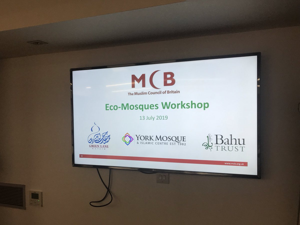 At the @MuslimCouncil of Britain AGM today speaking about our faith based environment work to tackle #ClimateChange Presented alongside @YorkMosque and @GreenLaneMasjid who showcased fantastic initiatives on promoting sustainability in their respective communities 🕌