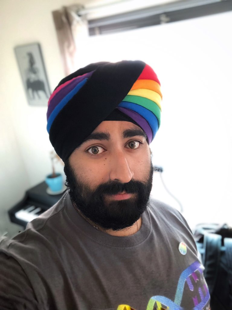 The #PrideTurban got an upgrade for San Diego pride 2019! #BiInSci #pride <br>http://pic.twitter.com/neTjcUl3bd