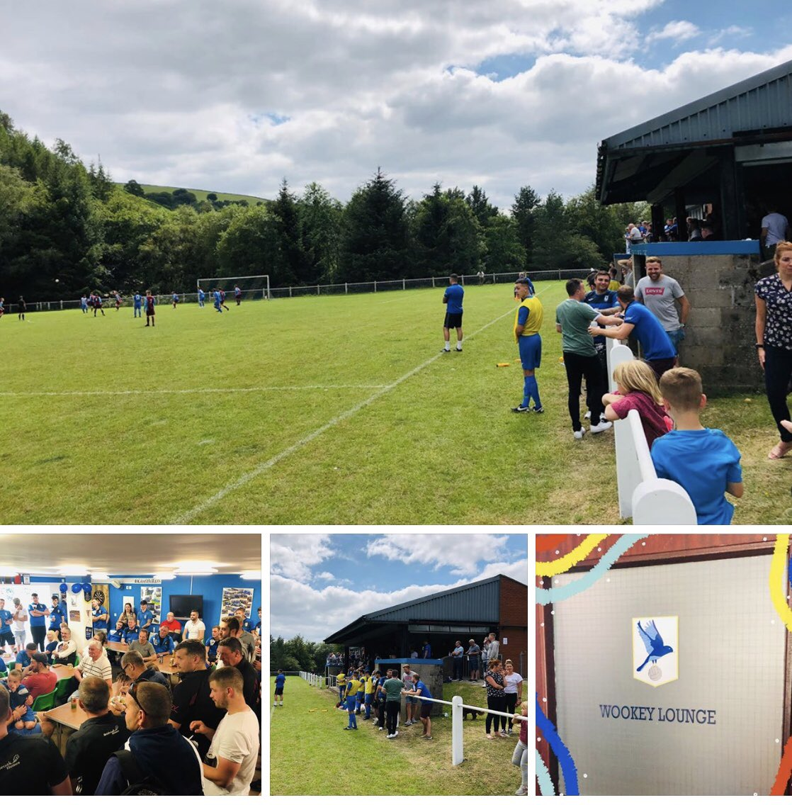 Great Pre-Season Day down The CwmNant. Two Great Games of football ⚽️, Unveiling of  our New Wookey Lounge @ the Clubhouse 💙 & Plenty of People enjoying the Food & Drink available. 🍔🍺 #Thank you to NeuaddWen & Braoadwell for sharing it with us, All the best for the season Guys