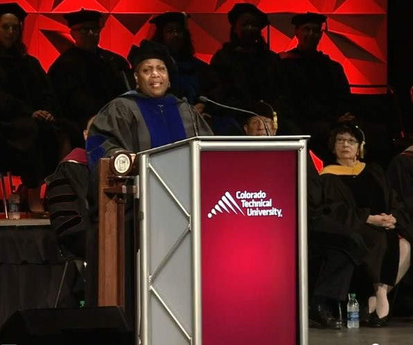 """The more you experience, the more you evolve. All of your experiences lead you to this moment... Use what you've been through to keep you going. Congratulations graduates!"" - Keynote Speaker @drberticeberry #CTUgrad"