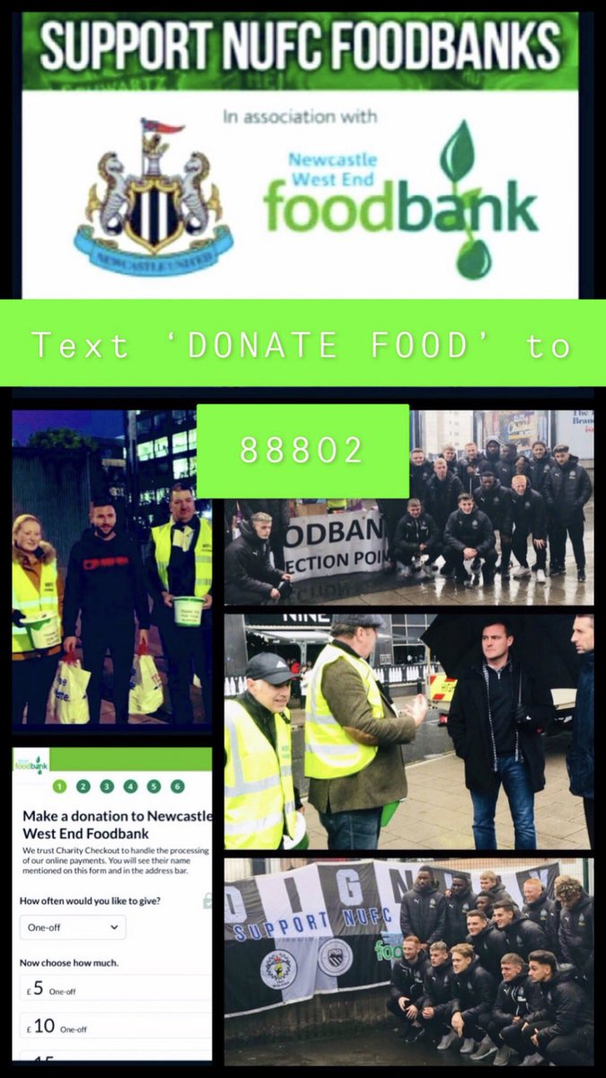NUFC Fans Food Bank on Twitter:
