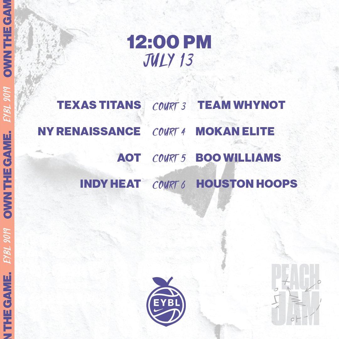 🏀 Saturday, July 13 📍 Augusta, GA ⏰ 12:00PM