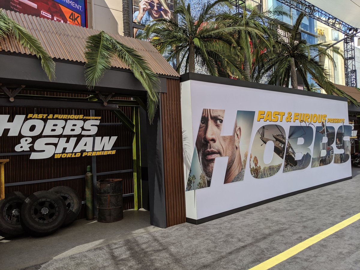 There are far worse ways to spend a Saturday! I've arrived at the world premiere of @HobbsAndShaw - one of my most anticipated movies of the year. Stay turned on @CinemaBlend for our red carpet coverage and more! #Hobbs #Shaw<br>http://pic.twitter.com/SAGIowcjQf
