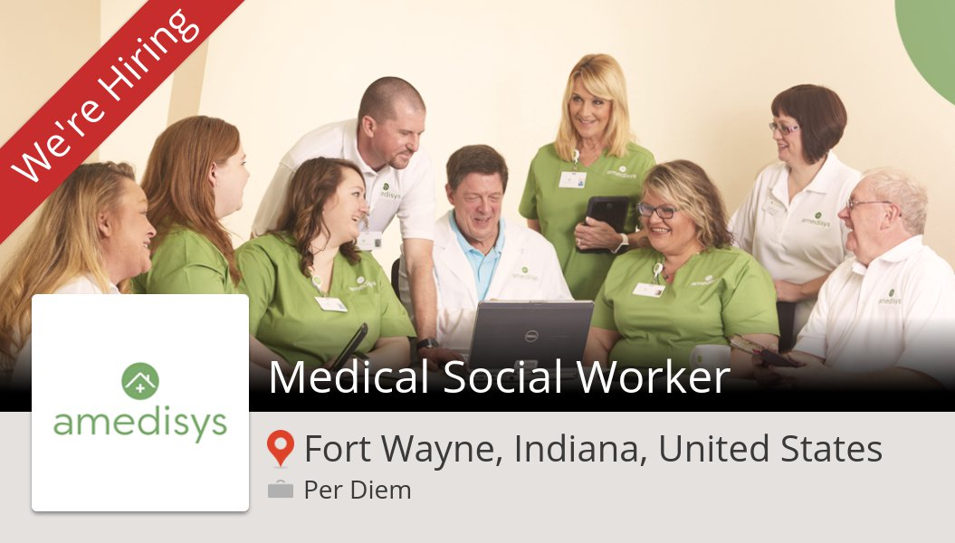 Apply now to work for #Amedisys as Medical #Social #Worker! (#FortWayne) #job https://t.co/eeL8ZxTumw https://t.co/H6RtmcIqLH