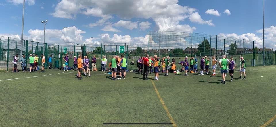 An Amaving 66 players enjoyed our  @WalkingFootball sessions At The Hive Barnet Fc This Week  .. Thursday 7 to 8pm and Friday 2-3  Come and try the new football craze , just turn up and play  £3 per session , keep fit and have a laugh at Barnet FC  <br>http://pic.twitter.com/sPNNbhrFhP