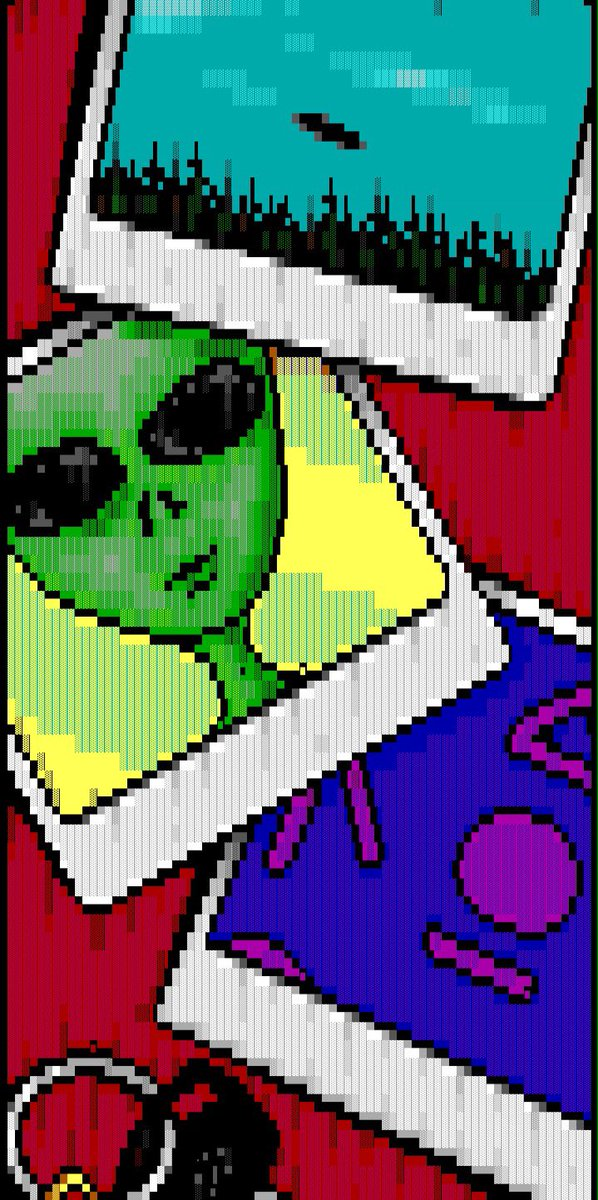 The ANSI art scene stormed #Area51 years ago and we have the