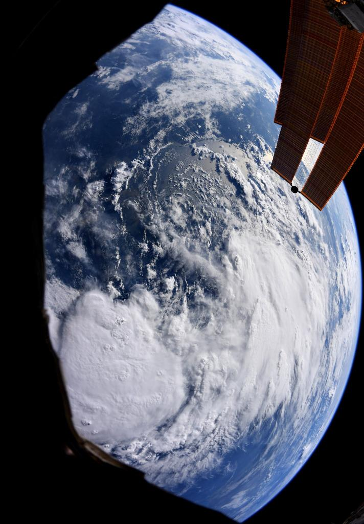 Here's a look at #TropicalStormBarry ahead of it making landfall. Our @NASAEarth satellites are continuing to collect data on this storm as it is expected to bring more rain. Get the latest updates about the storm by following @NASAHurricane and our blog:  https:// go.nasa.gov/2JEwM6K     <br>http://pic.twitter.com/NODRS81Hwu