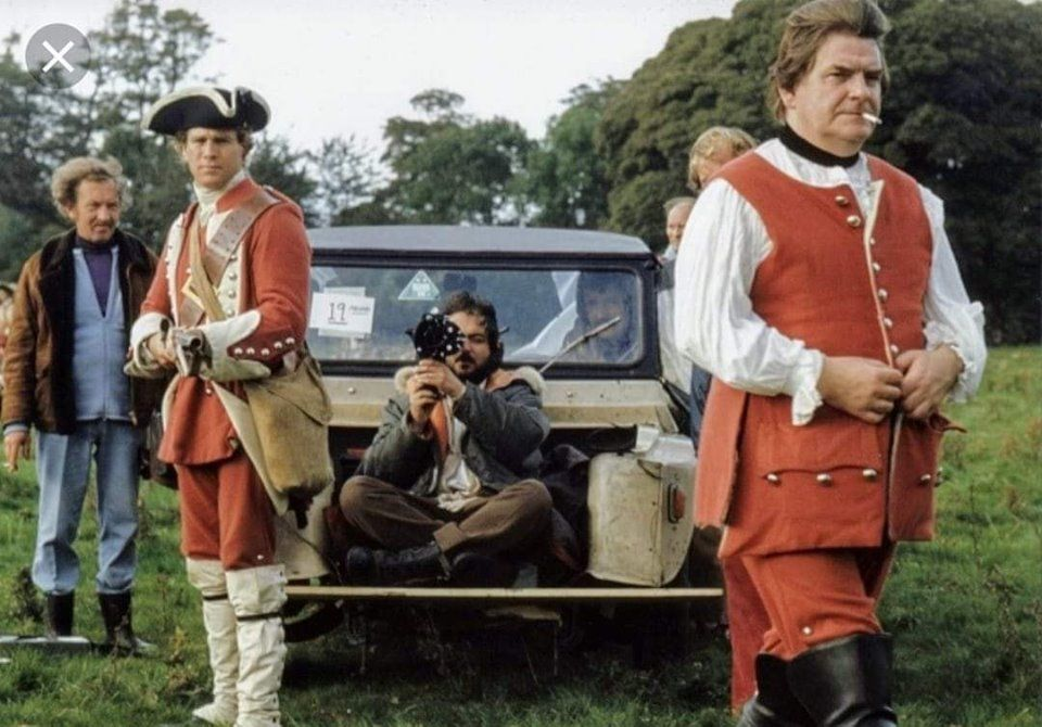 A rarely seen photo from the set of BARRY LYNDON