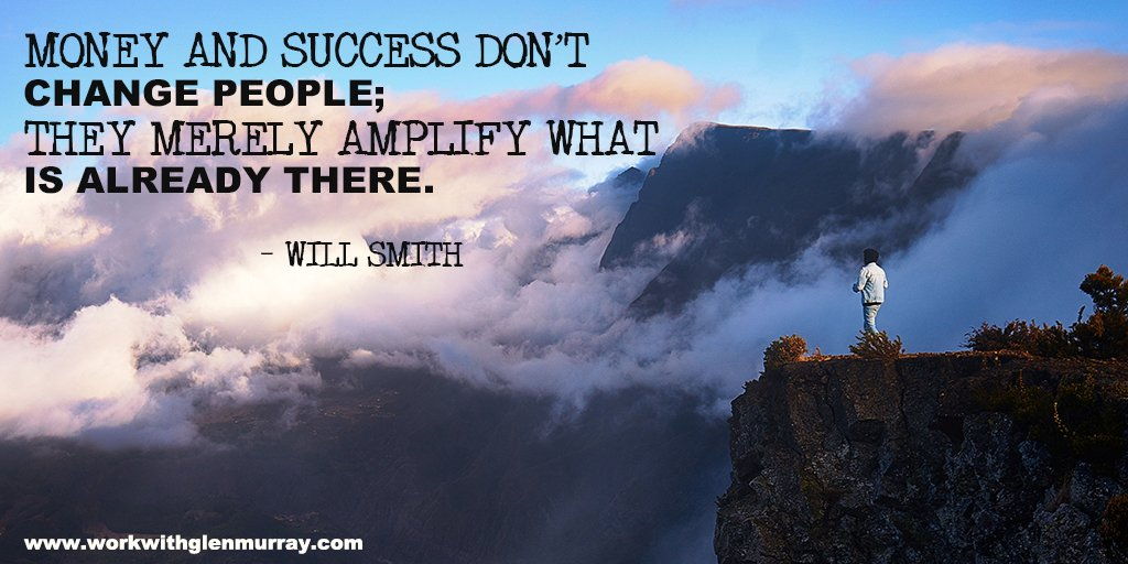 Money and success don't change people; they merely amplify what is already there.– Will SmithGet you piece of the pie http://bit.ly/GMO-Freedom  #willsmith #networkmarketing #affiliatemarketing #glenmurray #TED2019 #jimrohn #tonyrobbins #makemoneyfromhome