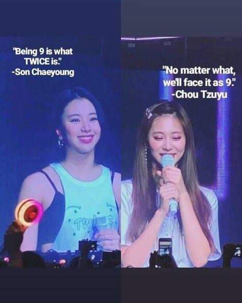 """Being nine is what TWICE is""- Son Chaeyoung😭😭😭OT9 FOREVER 💋🍓🐯#TWICELIGHTSinSG #GetWellSoonMina #TWICE"