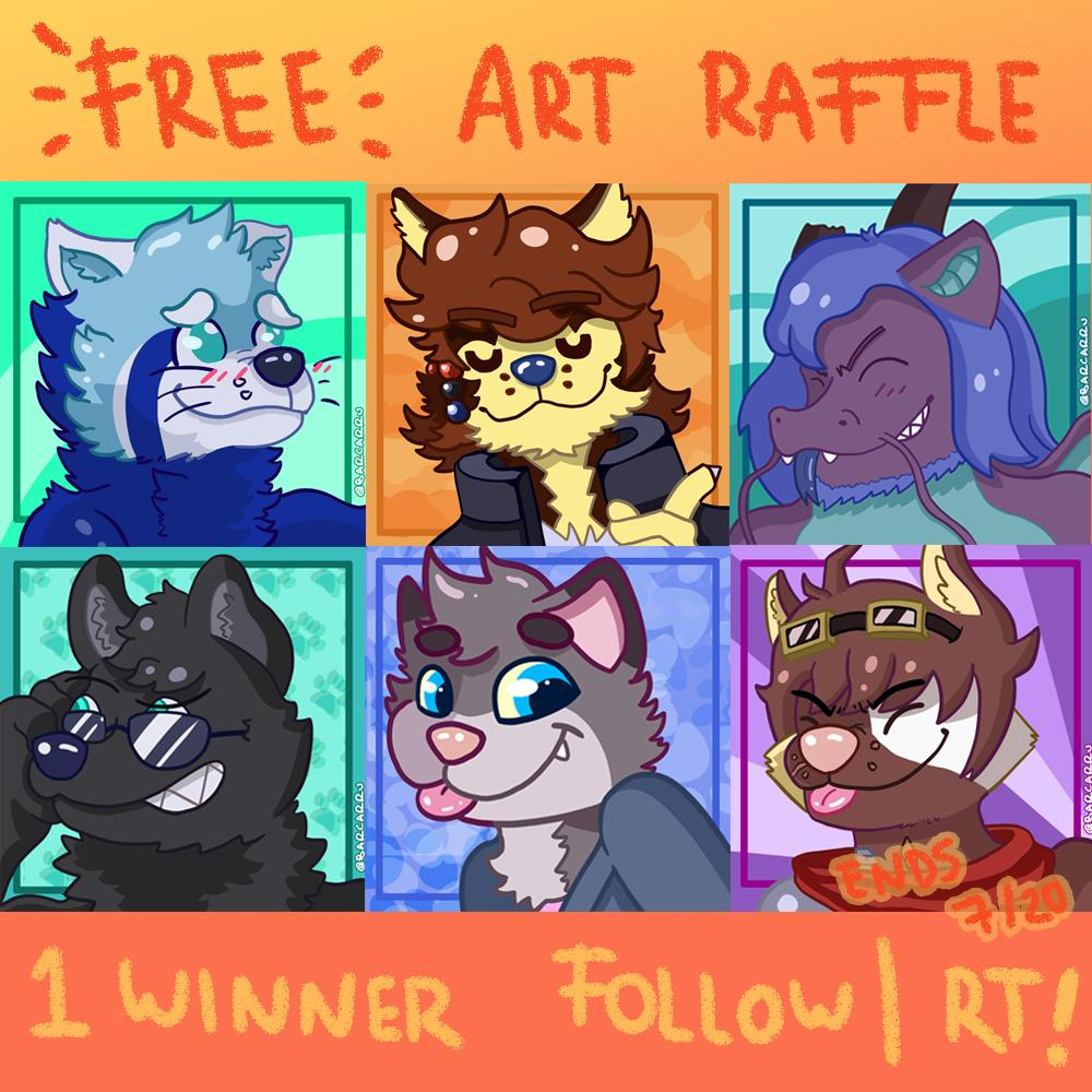 100 FOLLOWERS FREE ART RAFFLE     Participate and you'll be able to win one flat color Icon!    RULES    Follow me! RT THIS TWEET! One winner!  Will announce on July 20!   #furry #furryart #raffle #freeraffle #icons #furryfandom #furryartist<br>http://pic.twitter.com/U7fclWyGAU