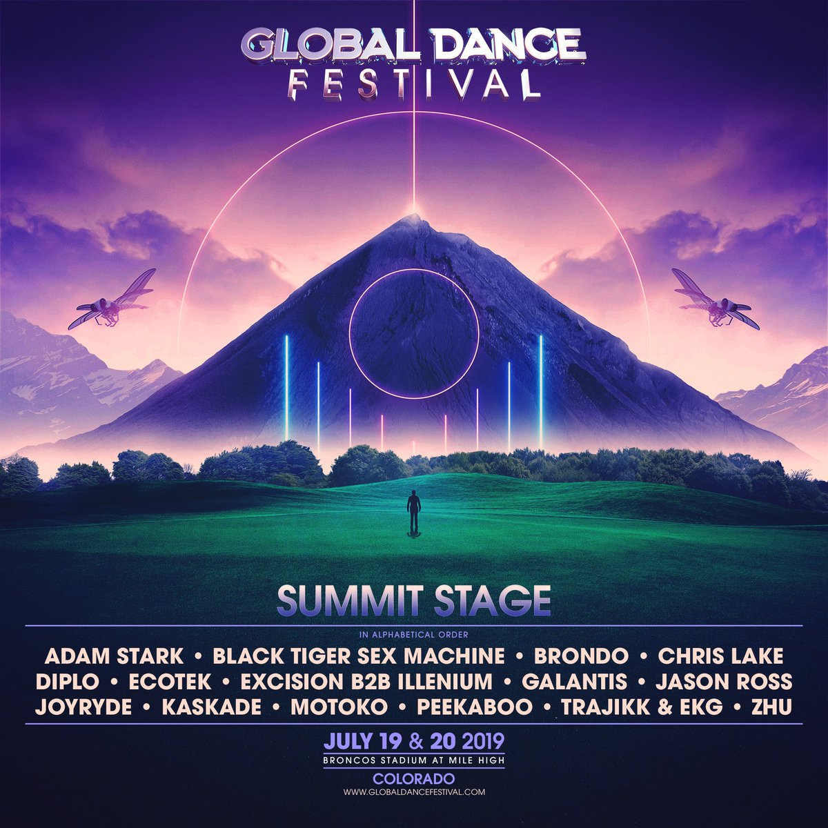 The Global Dance Festival Sumit Stage lineup for 2019