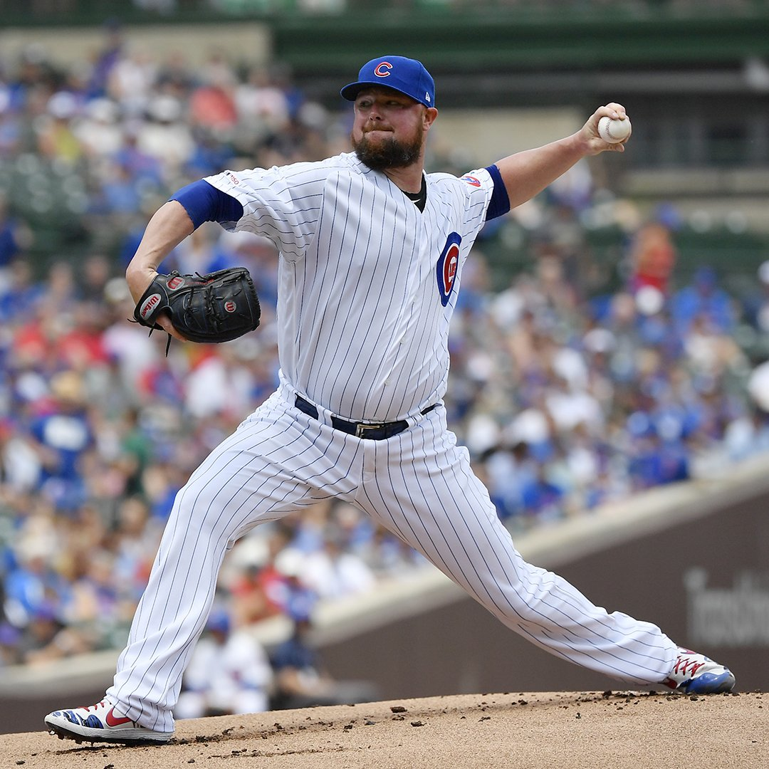 Quality start, two knocks, a homer and 3 RBI!  @JLester34 brought the  today! #EverybodyIn  <br>http://pic.twitter.com/XEGrx2oAvv