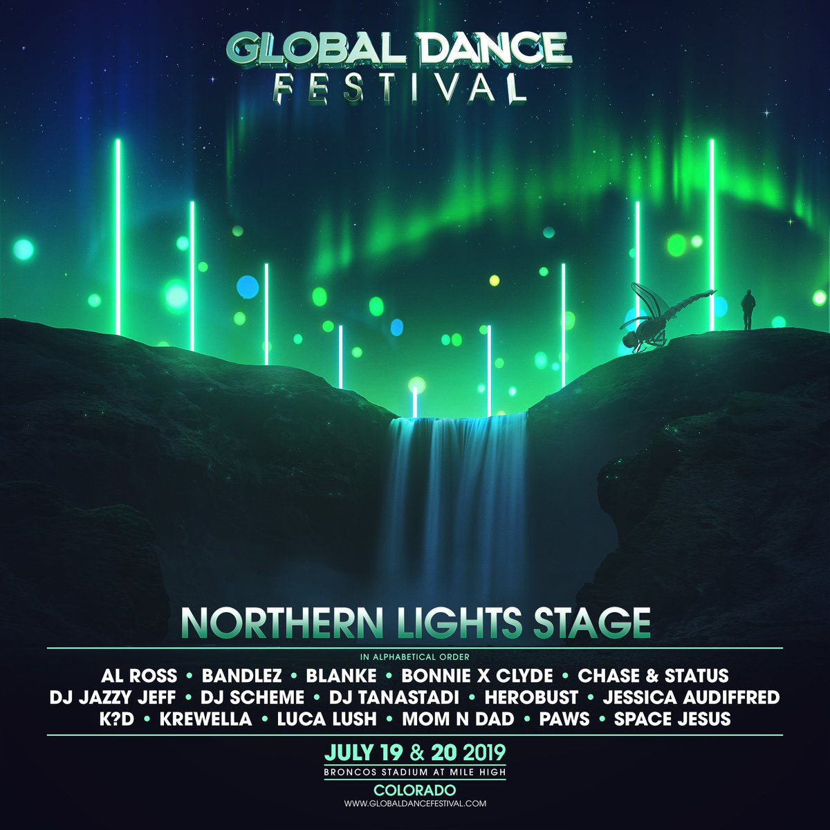 The Global Dance Festival Northern Lights lineup for 2019