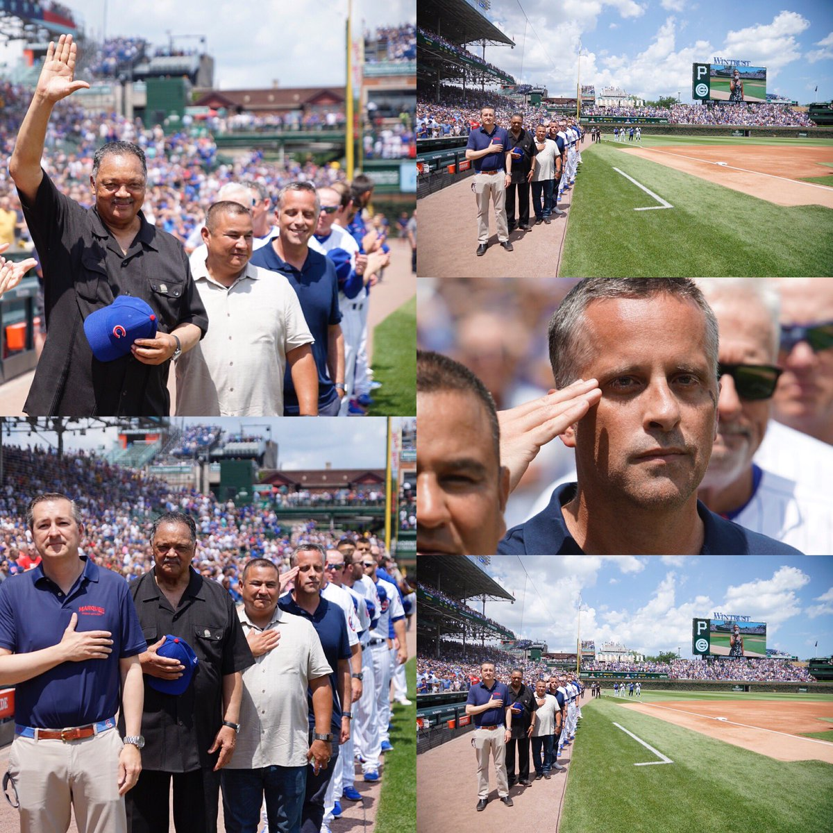 Returning for another proud moment... Thank you @Cubs for honoring our efforts & soldiers, Staff Sgt. Andrew Ramirez, Staff Sgt. Christopher Stone during today's game. I had the privilege of negotiating their release from the Balkans, 20 years ago during a bloody war. #FreeAtLast