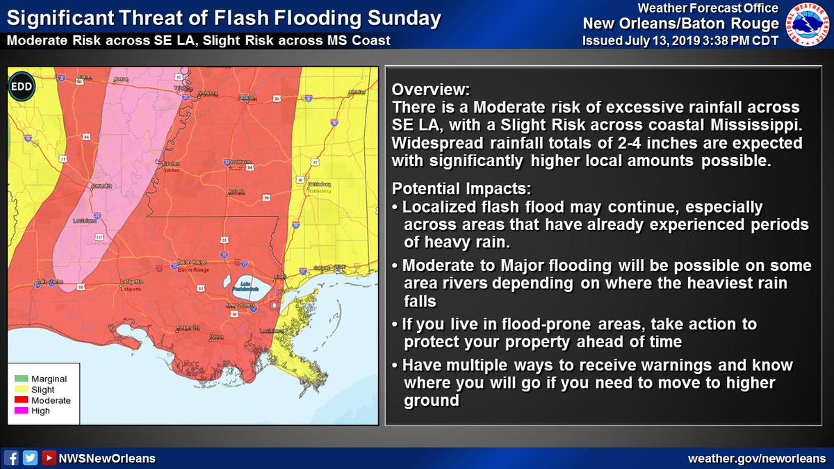 Nws New Orleans On Twitter In Addition Storm Surge Warnings
