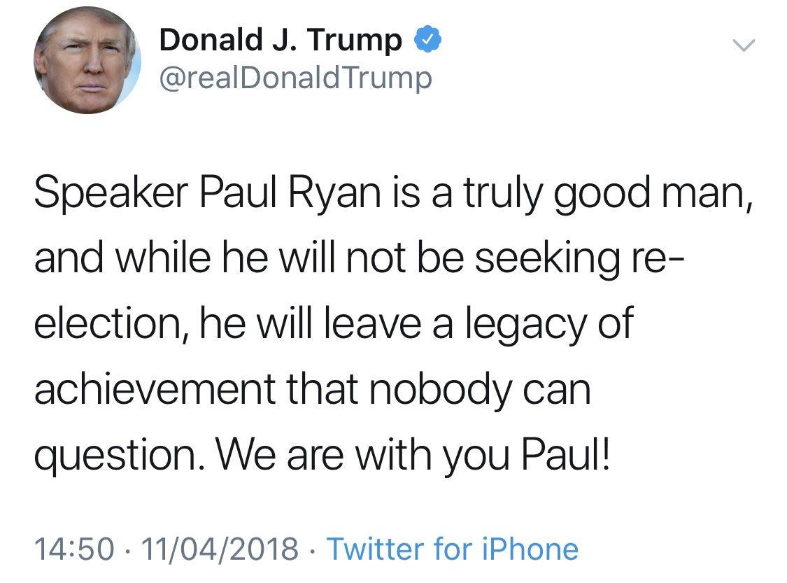 "Trump called Paul Ryan ""weak, ineffective, and stupid"" tonight. His only criterion for whether he praises someone or insults them is whether they debase themselves by relentlessly praising him or not. That's the singular prism that best explains his amoral, unprincipled worldview <br>http://pic.twitter.com/v2tQi2wngi"