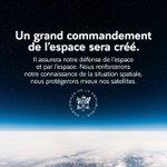 Image for the Tweet beginning: Un grand commandement de l'espace
