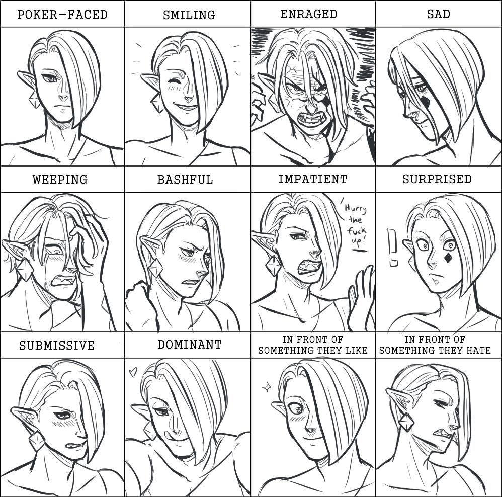 Someone on tumblr said they wanted to see me do an expression meme with Ghirahim and I was like why not??? So I did. Here's also some Ghirahims I drew for some sort of art tips thing post I wrote up for expressions #LegendofZelda<br>http://pic.twitter.com/VU86SnRQPn