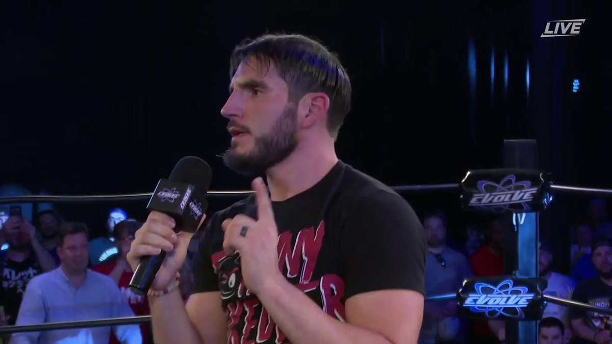 Hes was at the first @WWNEvolve show ten years ago, and hes BACK ten years later. @JohnnyGargano has EVOLVED. #EVOLVE131