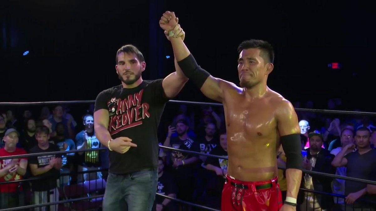 That was one for the history books. Did you enjoy the show? #EVOLVE131 @JohnnyGargano @TozawaAkira