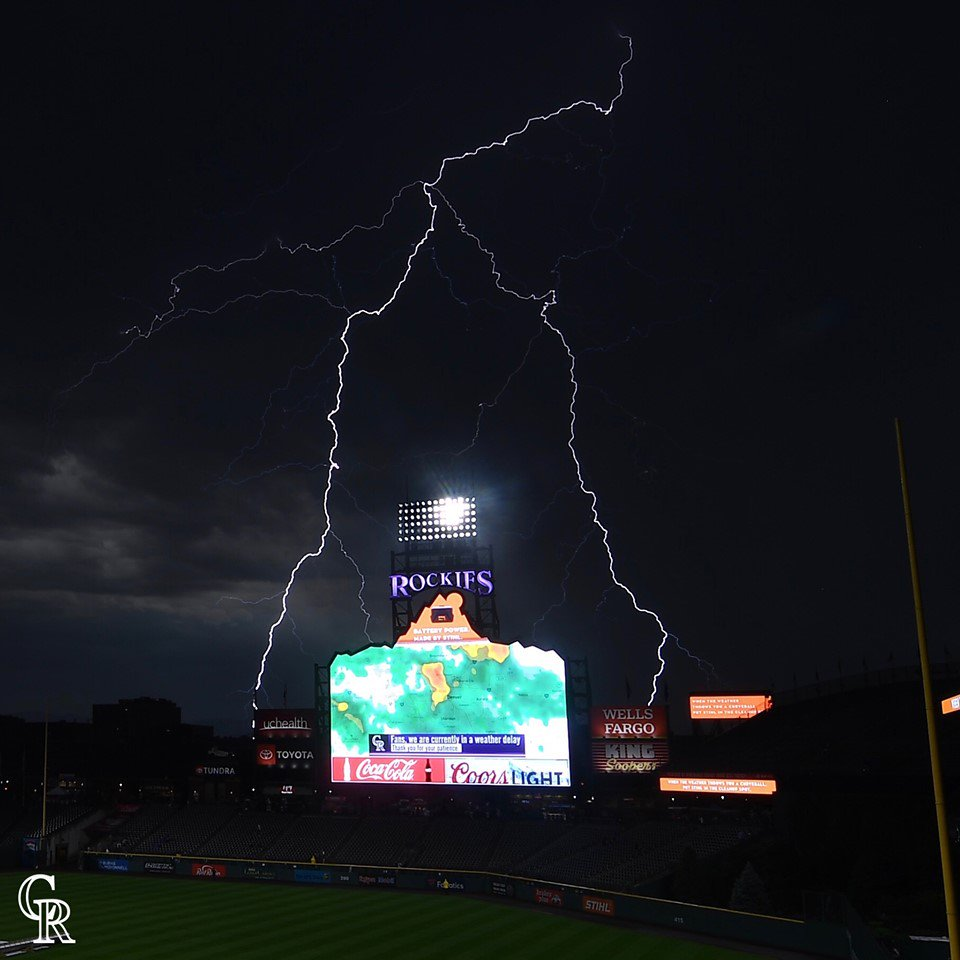 The Colorado Rockies have harnessed the power of lightning and we're all doomed