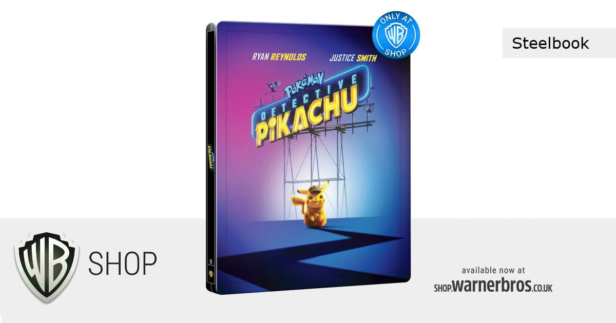 Flash Competition to celebrate our exclusive  #DetectivePikachu Steelbook!RT & follow to be in with the chance to #win some Detective Pikachu goodieshttp://bit.ly/306o34D#Pokemon #WBShopExclusive