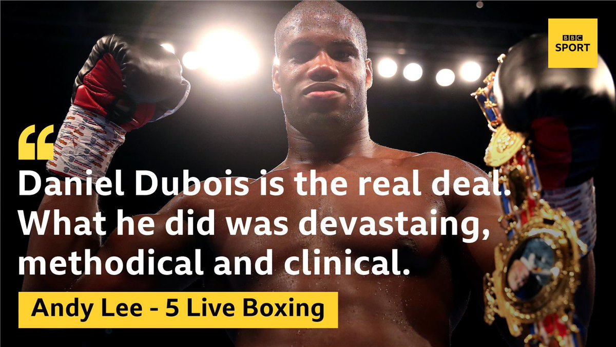Daniel Dubois has won and in a style which caught the eye.The new British heavyweight champion.https://bbc.in/2XG1c2d#boxing #bbcboxing #DuboisGorman