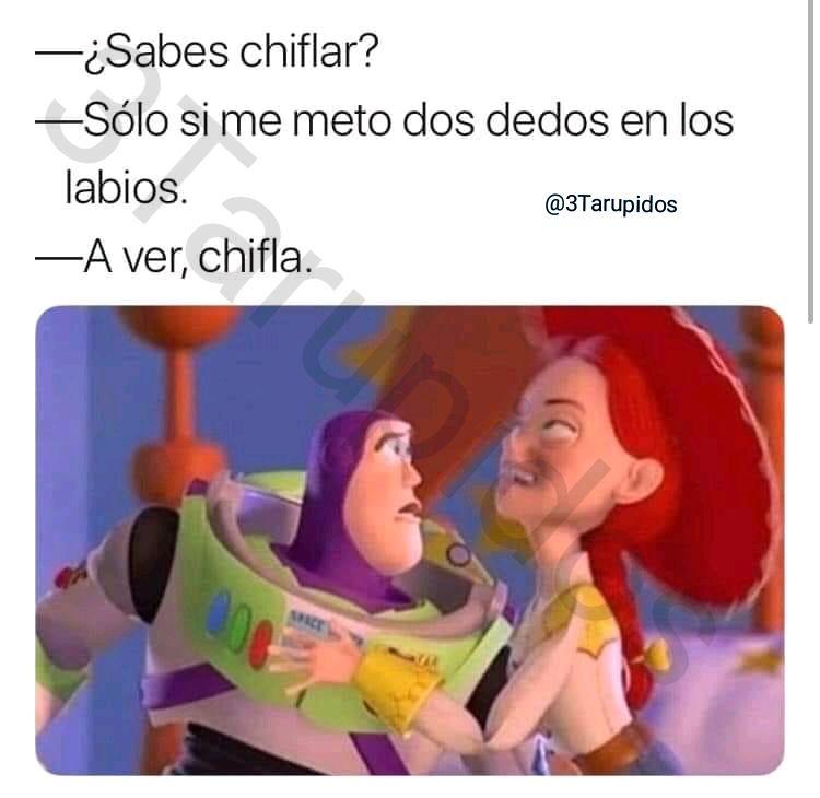 Quien sabe chiflar??? #tarupidos #3tarupidos #oddlymemes #dumbmemes #interestingmemes #likablememes #beameme #fulltimememer #cornymeme #surrealmeme #wowmemes #originalmemes #creepymemes #memefarm #mememaker #memebased #meming #memelord #latinmemes #schoolmemespic.twitter.com/CbxgFXFO8x