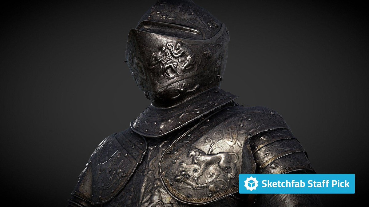 New staff pick: The Parade Armour of King Erik XIV of Sweden by @Livrustkammaren. Check it out in #3D, #AR or #VR: bit.ly/2LdV2zD