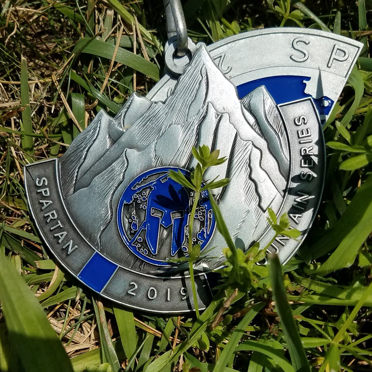 After 29 obstacles, 95 burpees, 8 miles and 3 1/2 hours this medal was earned and not given #spartanrace #spartansuper #spartanultra #trifectatribe #spartantraining #spartanarmy2019 #spartanup #spartanstrong #OCR #obstaclecourse  #bellsnotburpees #beastmode #aroo #spartan40