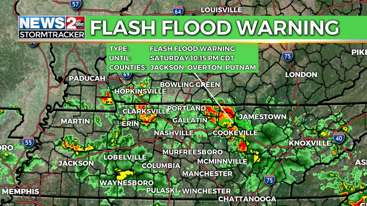 WKRN WEATHER ALERT: Flash Flood Warning for the area in