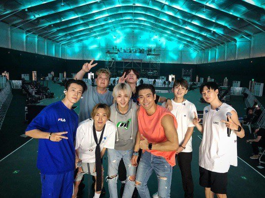 """Super Junior successfully wrapped up their first K-pop gig in Saudi Arabia. """"Thanks a lot Saudi ELF!! I'm so proud of you guys... hope to see u again. thank you for having me today I'll never for get ur scream and love :),"""" wrote Donghae on Instagram. @SJofficial<br>http://pic.twitter.com/7t1JVcEC4e"""