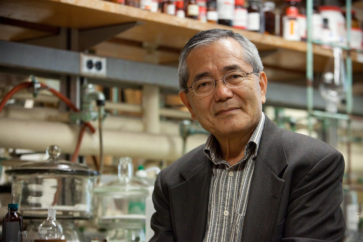 Happy 84th birthday to chemist Ei-ichi Negishi!  Negishi began developing chemical reactions in which carbon atoms are bound together so that new compounds are created. The reactions create cross couplings between carbon atoms, with the metal palladium as a catalyst.