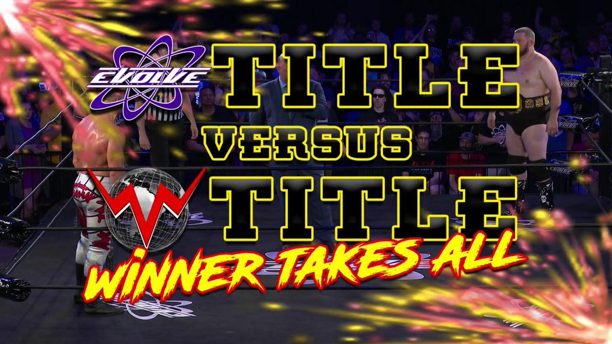 Title vs. Title. Winner take all. #EVOLVEChampion @austintheory1 vs. #WWNChampion @RealJDDrake RIGHT NOW on @WWENetwork! #EVOLVE131
