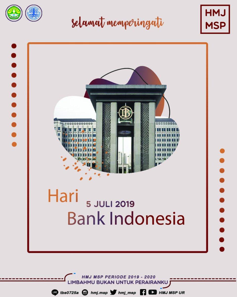 [HARI BANK INDONESIA] Assalamu'alaikum warahmatullahi wabarakatuh  Selamat Hari Bank Indonesia! Semoga semakin profesional dan maju dalam segala aspek untuk terwujudnya pertumbuhan perekonomian nasional. #HARIBANKINDONESIA #HMJMSP #FPKUNRI  Bupati_Muhammad Irpan  Wabup_Iis Dahlia https://t.co/y1nUp6AJ8T