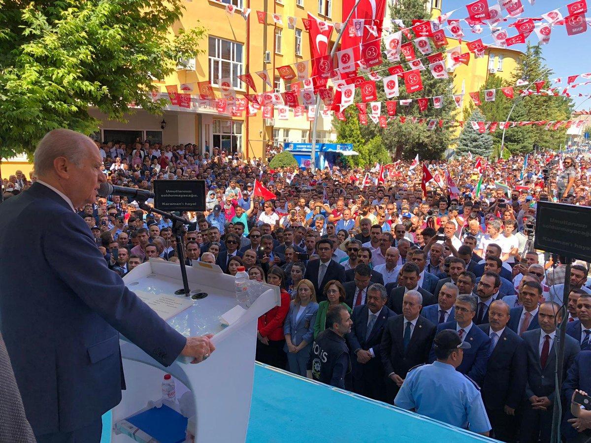 Genel Başkanımız Sayın Devlet BAHÇELİ, Karaman Belediyesinde Karamanlı hemşehrilerimize hitap etti.