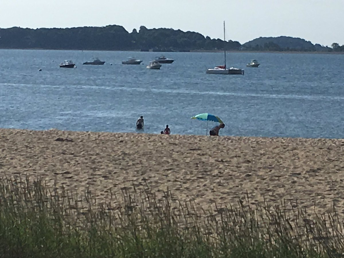 8:30am and people are in the water at M Street Beach. Why not? It's already in the 80's!!! #Boston25 <br>http://pic.twitter.com/2R9pHIBhPD