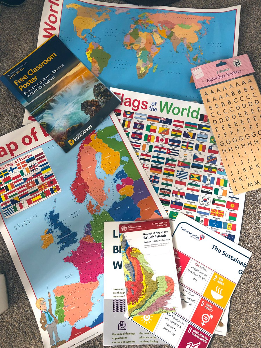 *GIVEAWAY* last year I was super keen and bought too much for my classroom and have these spare. RT/follow if you would like these as I'd hate to throw them away. Might save someone a few ££. Will pick on Wed 24/7 #pgce #nqt #geographyteacher