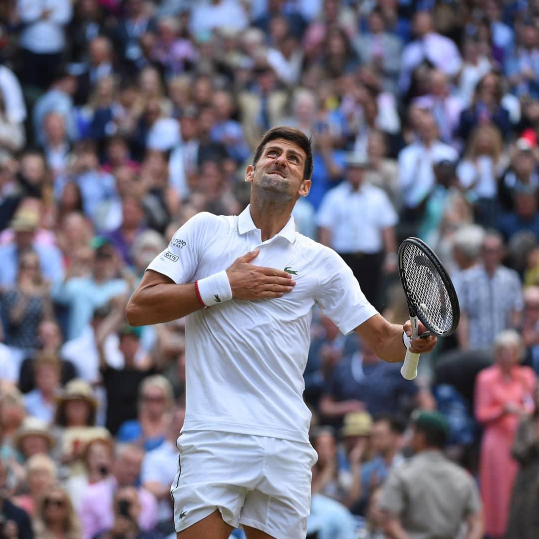 📅One week ago.. history was written.. ✨📅 @DjokerNole 👑🏆💯💪❗  #Wimbledon2019 #Djokovic