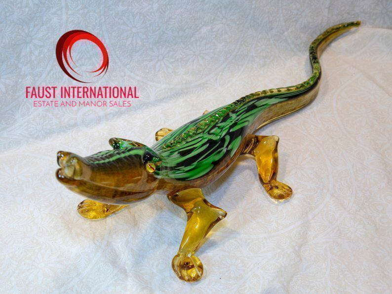 Excited to share this item from my #etsy shop: Very Rare Genuine Giant Extra Large Murano Alligator Art Glass Sculpture - Perfect Condition #vintage #collectibles #green #housewarming #glassart #murano #alligator #fathersday #gold buff.ly/2EaXDFJ buff.ly/2UcYIXr