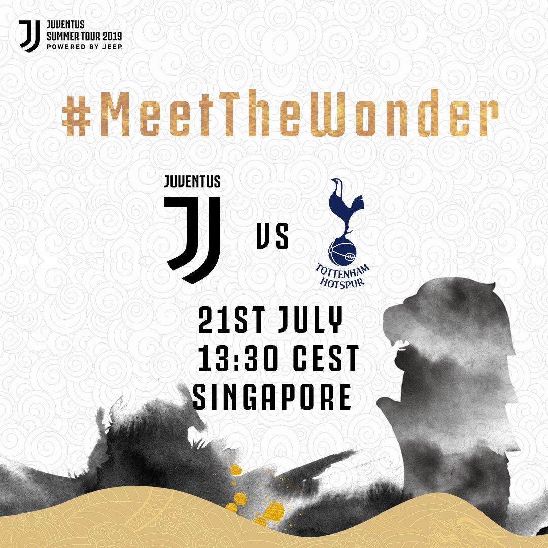🙌 SIAMO TORNATI! 🙌 🏆 @IntChampionsCup  🆚 @SpursOfficial  ⏰ 13:30 (ora italiana) 🏟 National Stadium, Singapore 🇸🇬 ⚪️⚫️ #MeetTheWonder ⚪️⚫️