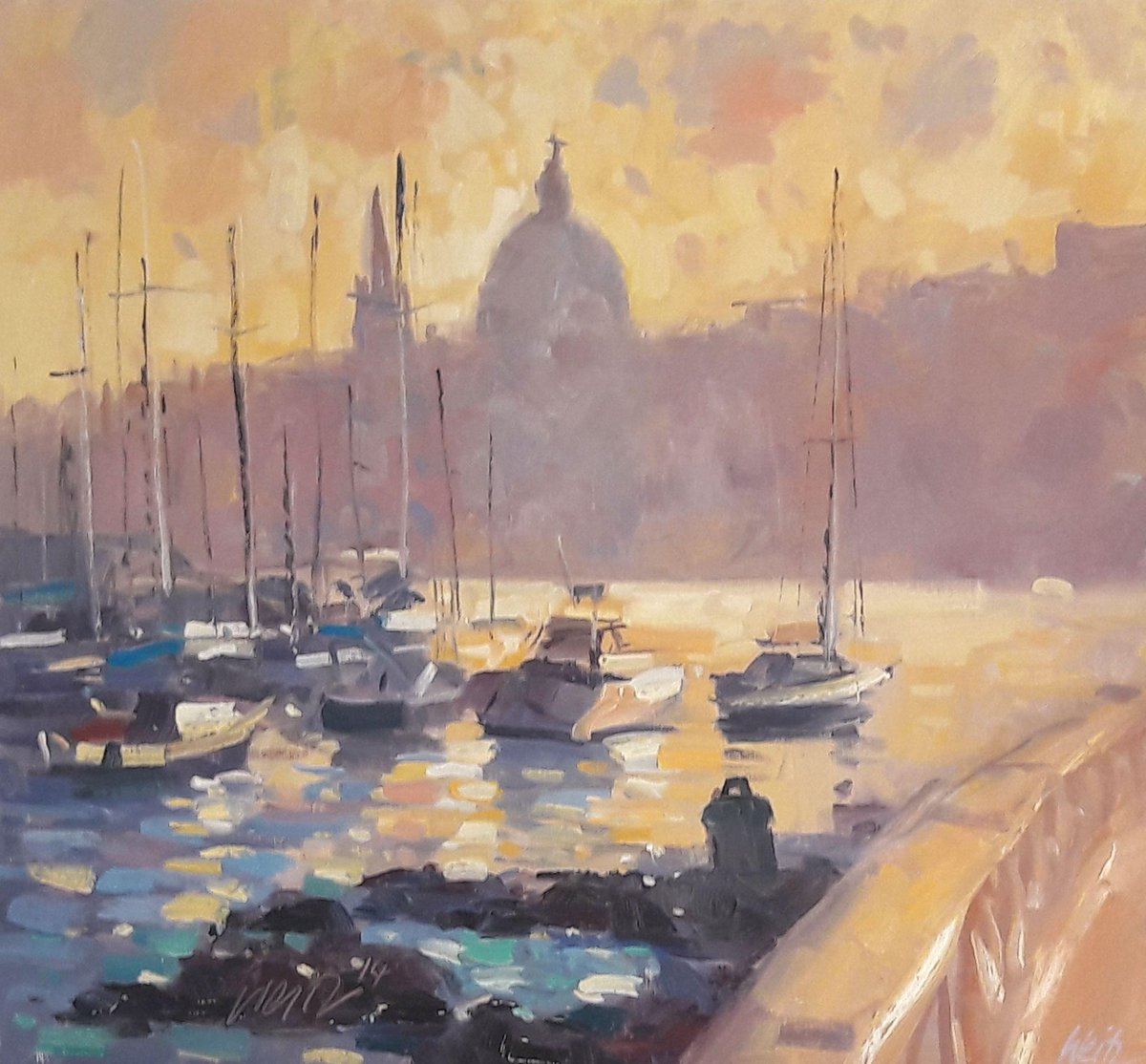 A lovely impression of Valletta from Ta' Xbiex by artist Anthony Weitz.   Info and whole image of painting: http://ow.ly/loU550v0Y0B   #TaXbiex #Valletta #silhouette #boats #sailboats #AnthonyWeitz #pleinair #impressionism #pleinairpainting #Maltapainting