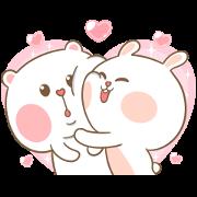 Sweet Marshmallow Couple 2 - Sticker List: GIF &