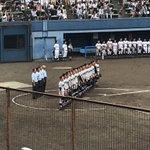 Image for the Tweet beginning: 今日は平塚球場で横浜高校VS三浦学苑高校の試合を観戦❗️ 3ー1で横浜高校の勝利だったけど三浦学苑の投手も粘り強かったし終盤の攻撃もチャンス作っててとても良い試合でした。 初の高校野球だったけど楽しかった✨ #第101回全国高等学校野球選手権大会