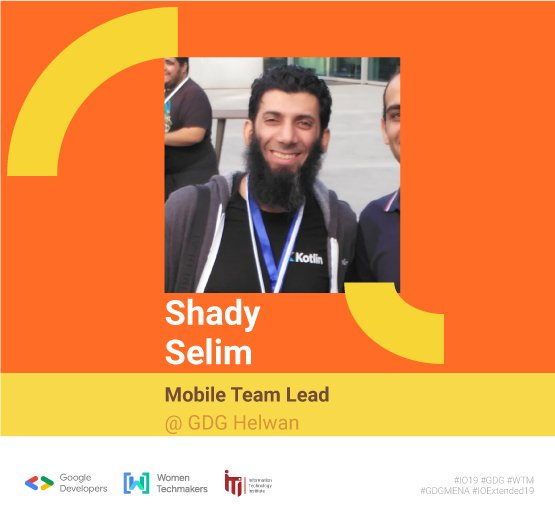 To help you dive deeper into Kotlin, we're happy to announce Kotlin/Everywhere Cairo, focusing on the potential of Kotlin on all platforms 🎉Welcome our speaker @dr_Shady_Selim 🙌Shady is a mobile & web evangelist, manager at KotlinMENA and GDGHelwan.#io19 #io19extendedCairo