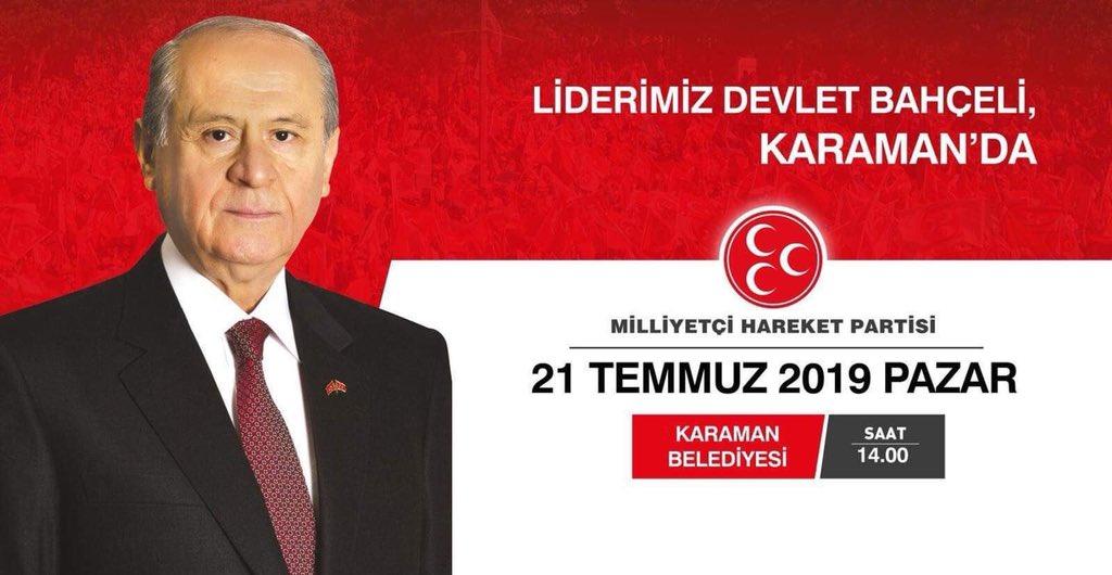 Liderimiz, Türk Milletinin Hâmisi Genel Başkanımız Dr.Devlet Bahçeli Beyefendi Karaman'da..