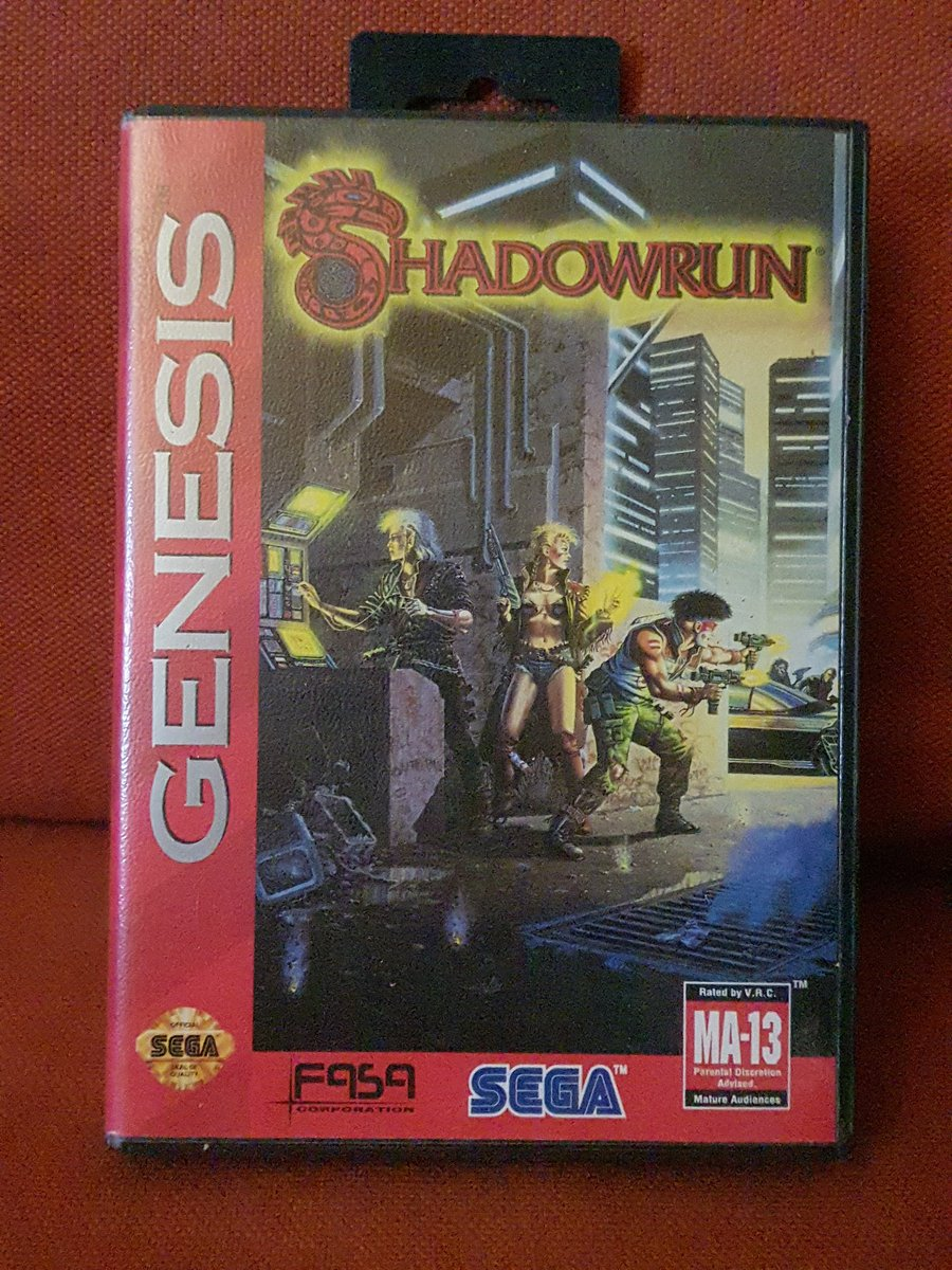 RT @Solyant1: So its not #SegaSaturday anymore but why not do a #SegaSunday too? Yeah im that crazy kind of a mofo 🤣   #Shadowrun on the #Megadrive Its #awesome with some cool 3D effects and stuff! And who doesnt enjoy #orks and #punks?  #GamersUnite…
