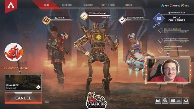 One of our Twitch friends is live!⠀ ⠀ Apex Legends with NemoClown | !stackup !calltoarms !stopsquad⠀ Follow us for more eSports news and updates!⠀ ⠀ #VeteranOwnedBusiness #CharityGaming #NexusGamingLLC https://www.instagram.com/p/B0K9q1FgEsH/